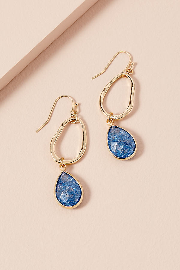 Annie Stone Drop Earrings - Gold
