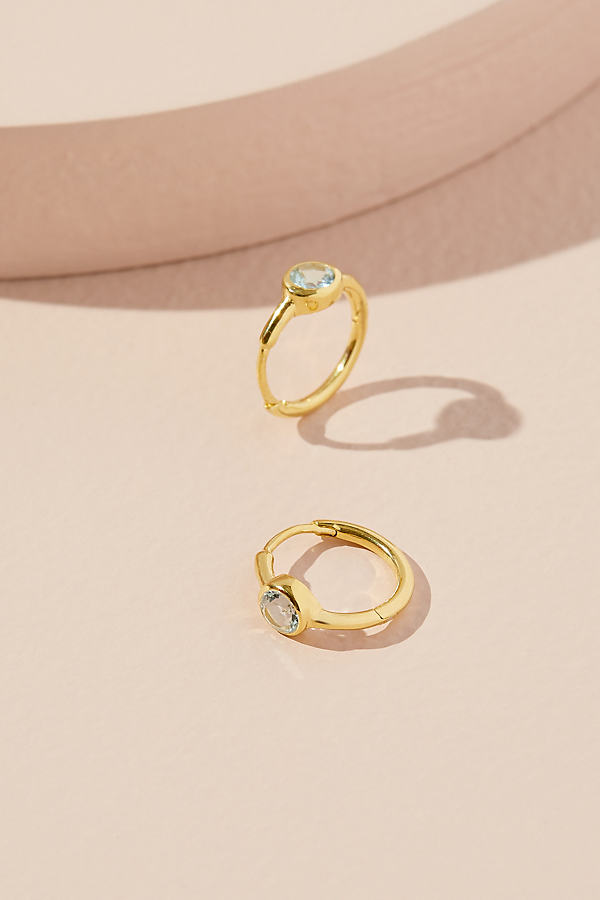 Anthropologie x Theodora Warre Birthstone Hoop Earrings
