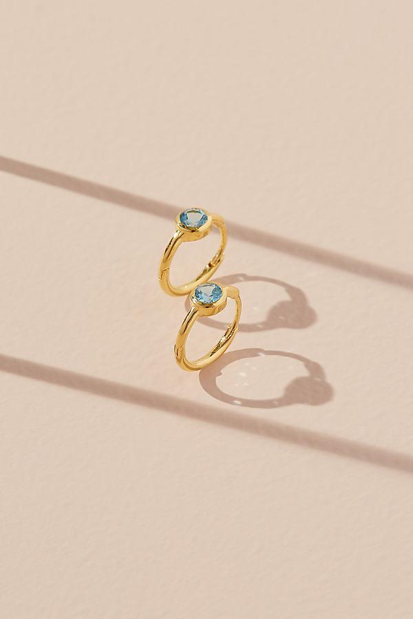 Anthropologie x Theodora Warre Birthstone Hoop Earrings