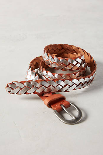 Braided Metallic Belt