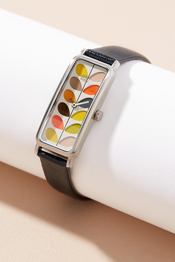 Orla Kiely Raina Leather Watch - Black