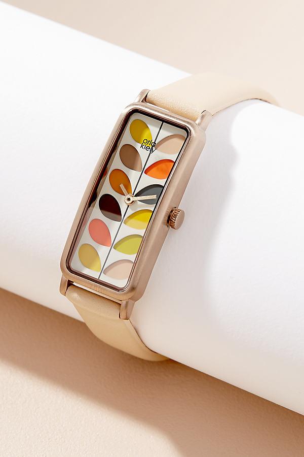 Orla Kiely Eleonore Leather Watch - Neutral
