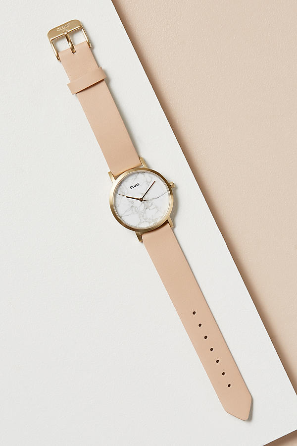 Cluse Flo Leather Watch - Pink