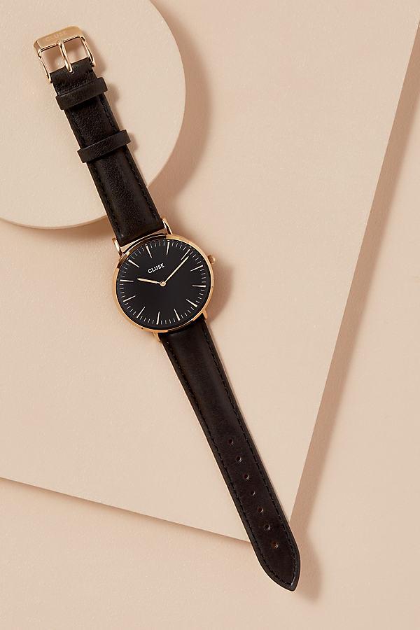 Cluse Samira Leather Watch - Black