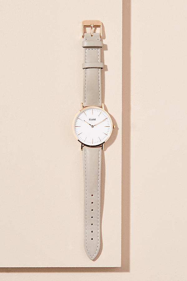 Cluse Hadiyah Leather Watch - Grey