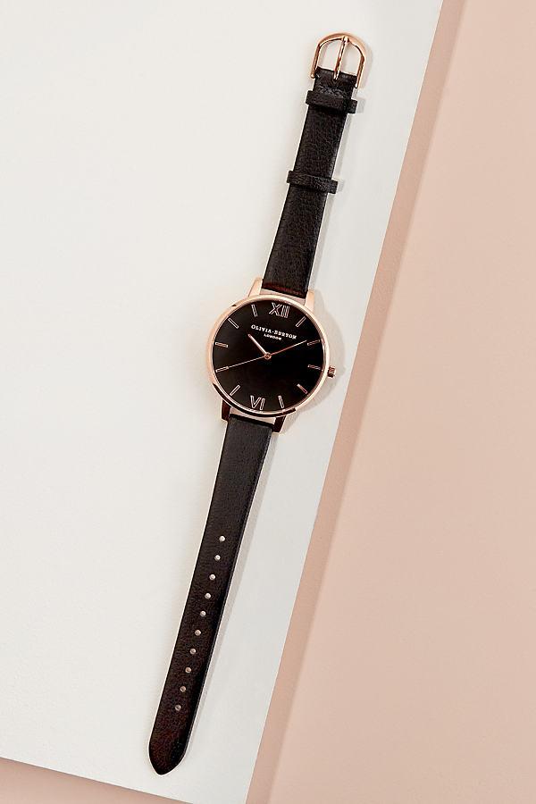 Olivia Burton Big Dial Watch - Black