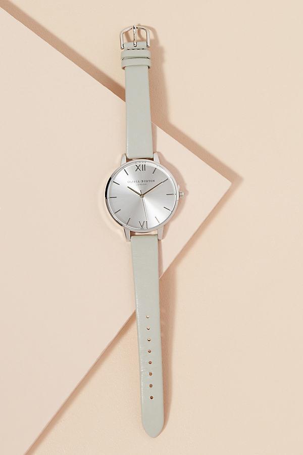 Olivia Burton Evette Leather Watch - Grey