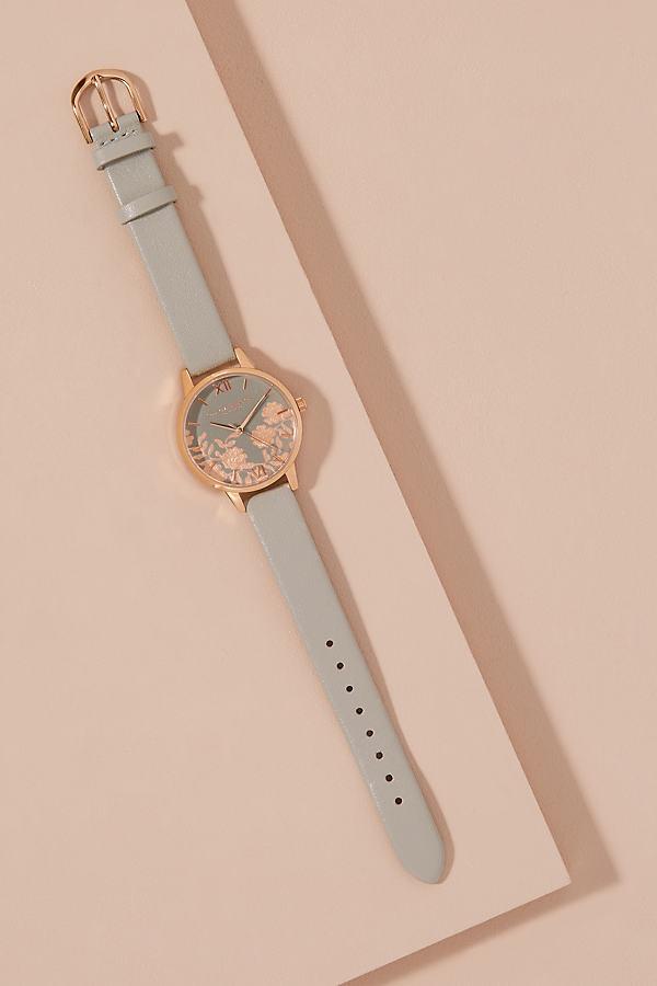 Olivia Burton Asia Leather Watch - Grey