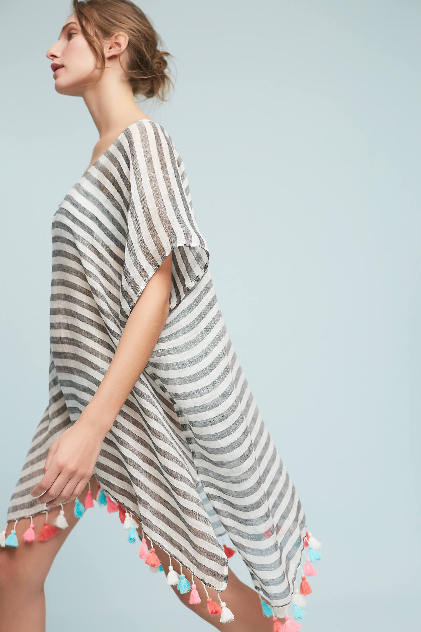 Striped Kaftan Cover-Up
