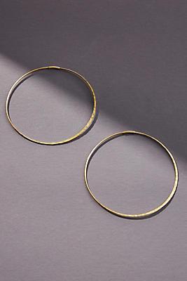 Anthropologie Slender Hoop Earrings g1hQHp3Ot