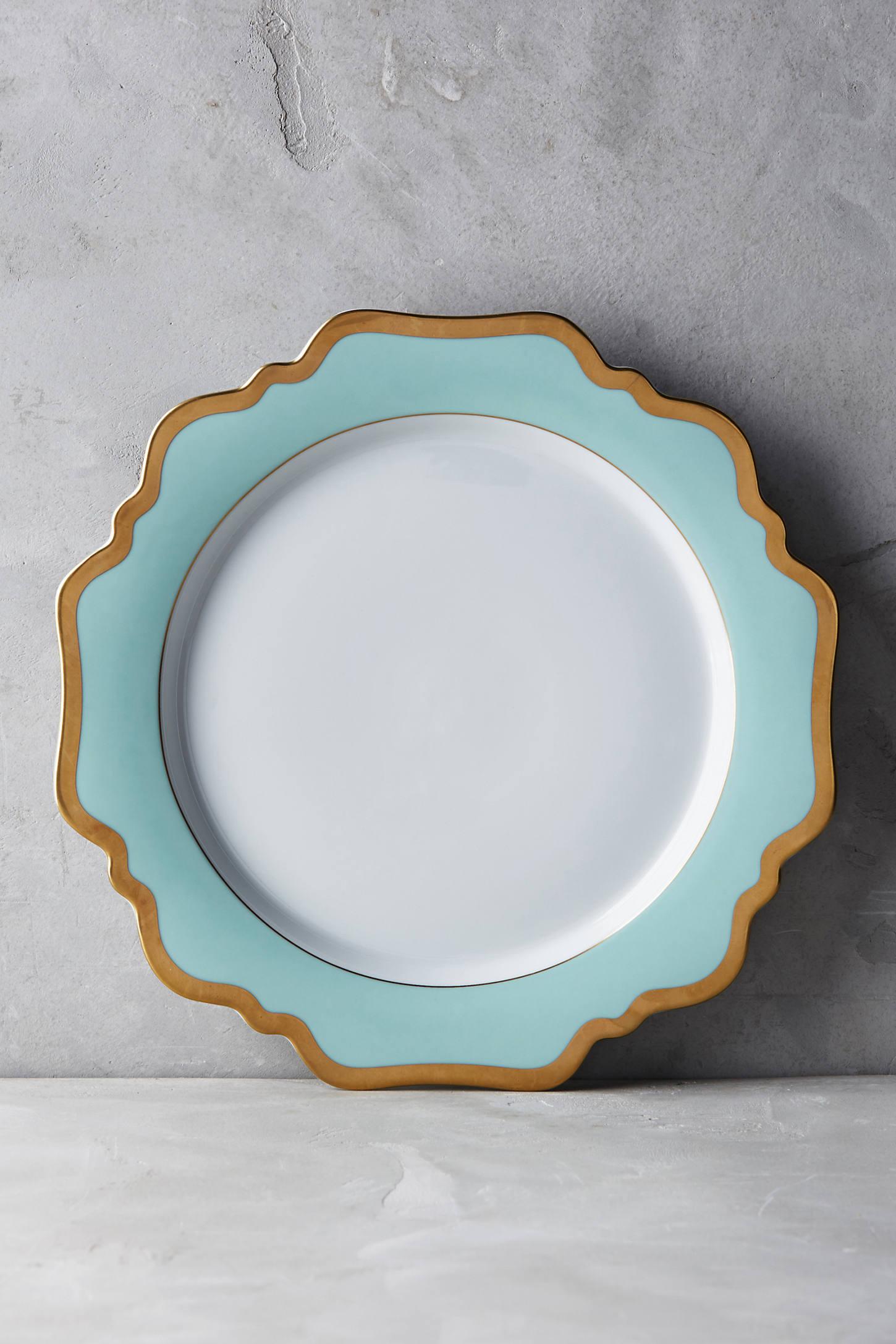 Anna's Palette Aqua Green Dinner Plate