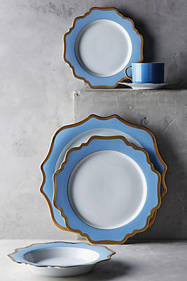 Slide View: 2: Anna's Palette Sky Blue Dinner Plate