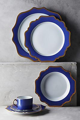 Slide View: 2: Anna's Palette Indigo Dinner Plate