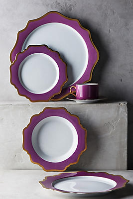Slide View: 2: Anna's Palette Purple Orchid Dinner Plate