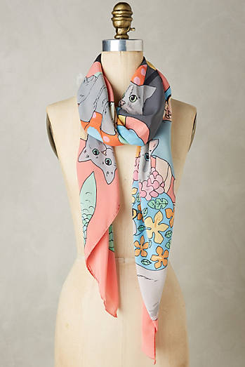 Fancy Cats Silk Scarf