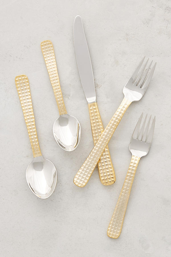 Slide View: 1: Manhattan Gold Flatware