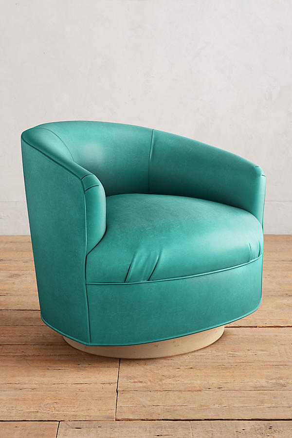 Slide View: 1: Premium Leather Amoret Swivel Chair