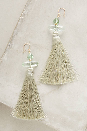 Clouded Tassel Drop Earrings