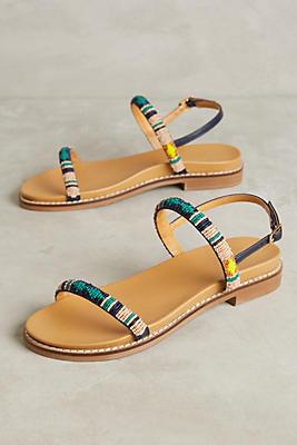 Slide View: 1: Rowena Beaded Sandals
