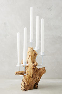 Slide View: 1: Teak Root Candelabra