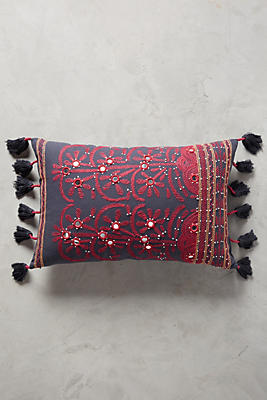 Slide View: 1: Shay Embroidered Pillow