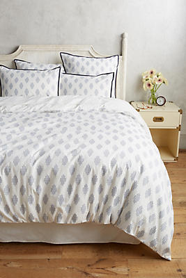 Slide View: 1: Tiled Jacquard Duvet