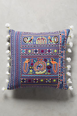 Slide View: 1: Nima Embroidered Pillow