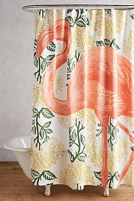 Flamingo Shower Curtain Anthropologie