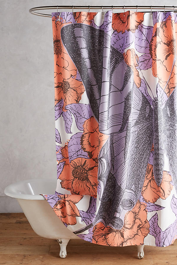 Slide View 1 Butterfly Shower Curtain