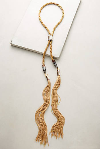 Golden Rope Bolo Necklace
