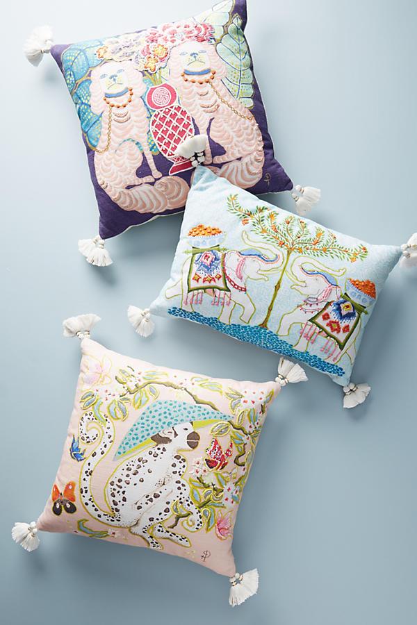 palace portrait pillow anthropologie. Black Bedroom Furniture Sets. Home Design Ideas