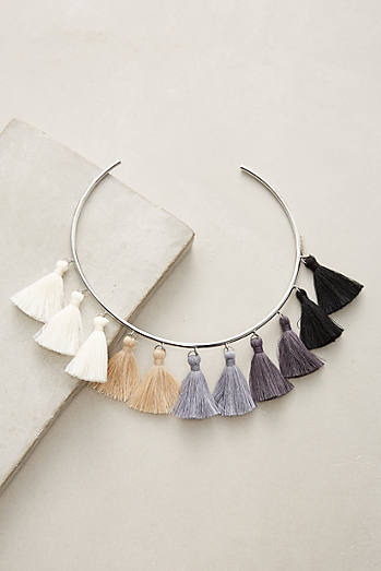 Lily Tasseled Collar Necklace