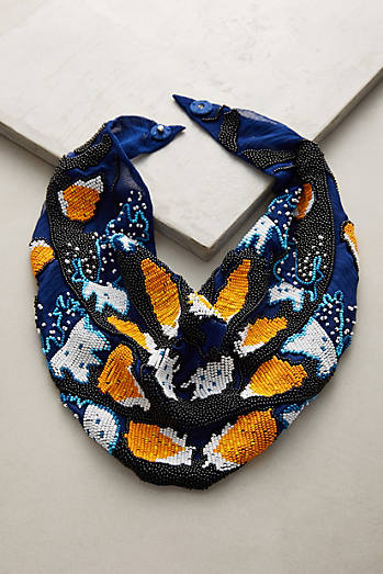 Le Charlot Butterfly Scarf Necklace