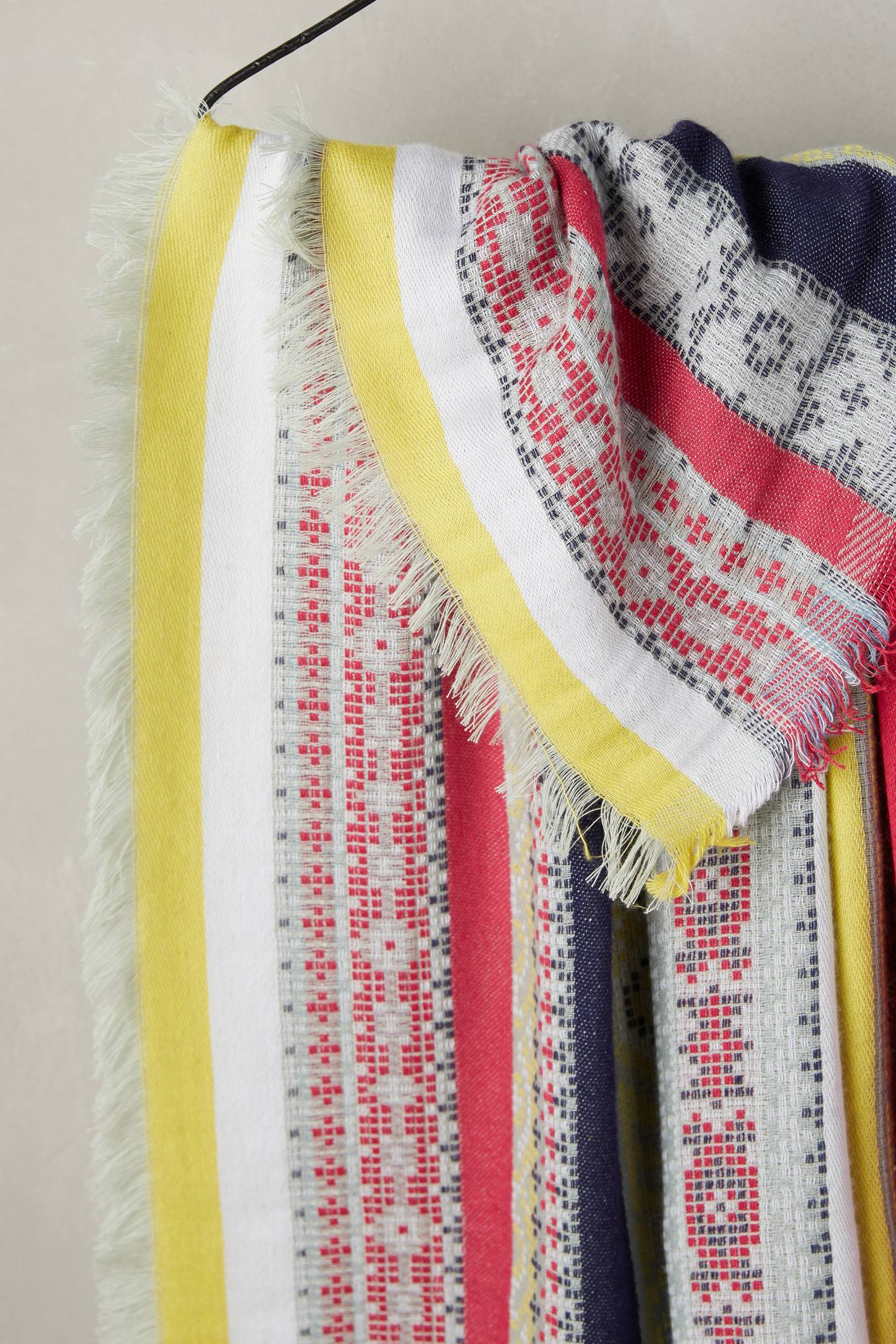 Slide View: 2: Striped Jacquard Scarf