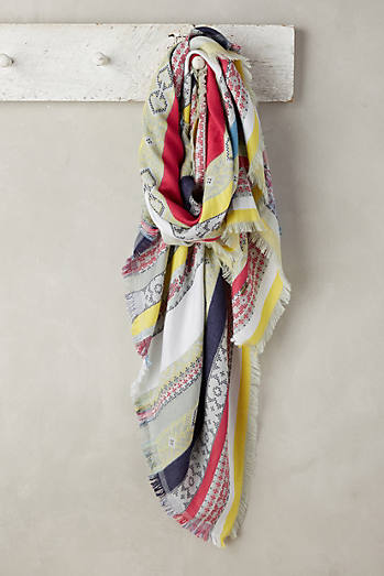 Striped Jacquard Scarf
