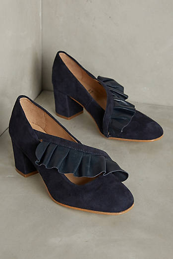 KMB Crossed Ruffle Heels