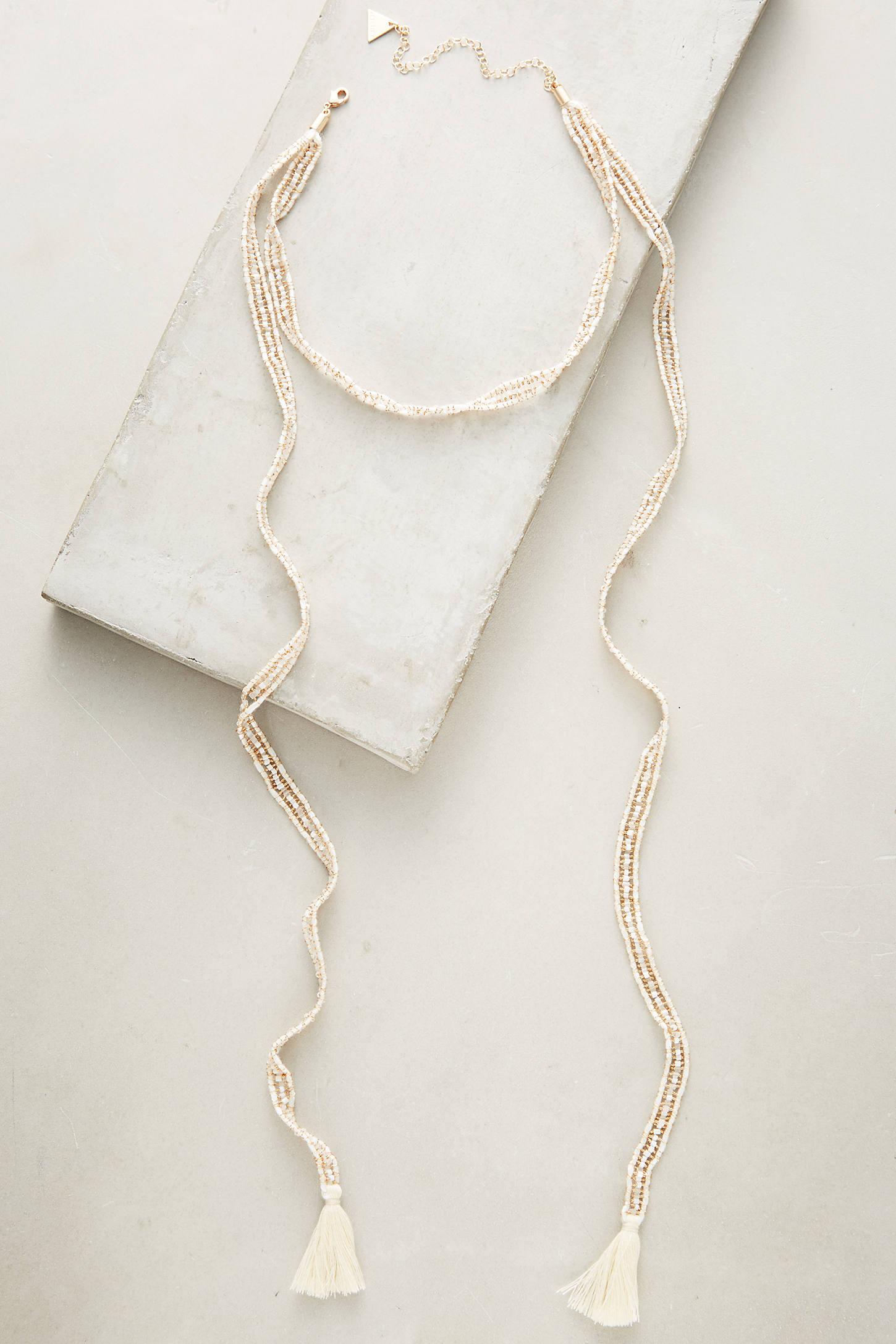 Tasseled Choker Wrap Necklace