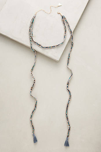 Tasseled Choker Wrap Necklace