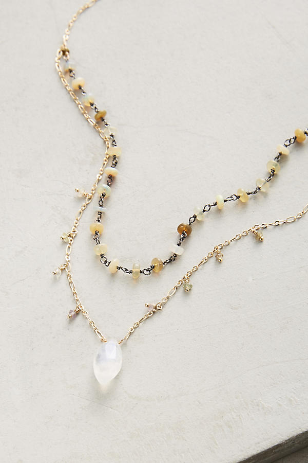 Slide View: 2: Layered Stone Necklace