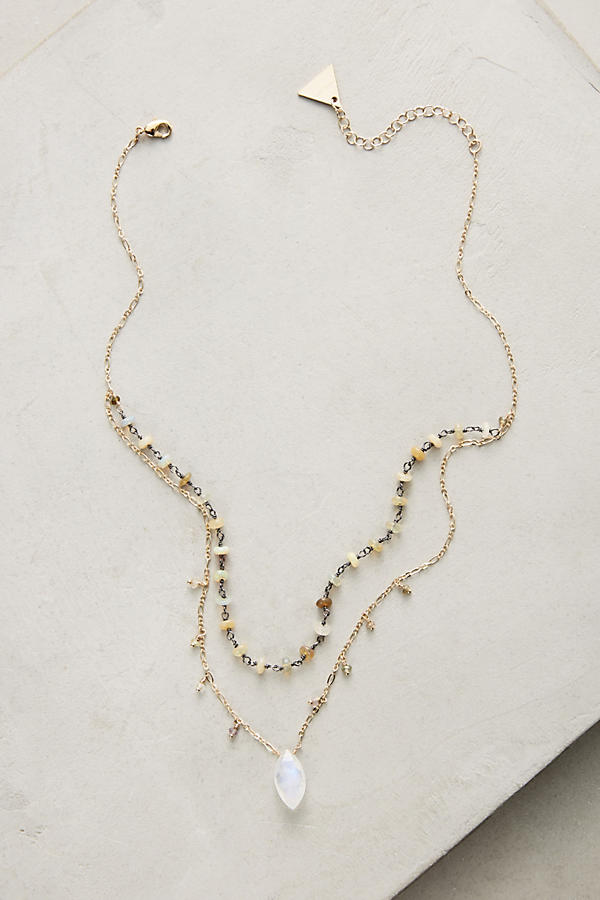 Slide View: 1: Layered Stone Necklace