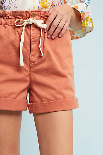 Paperbag-Waisted Chino Shorts