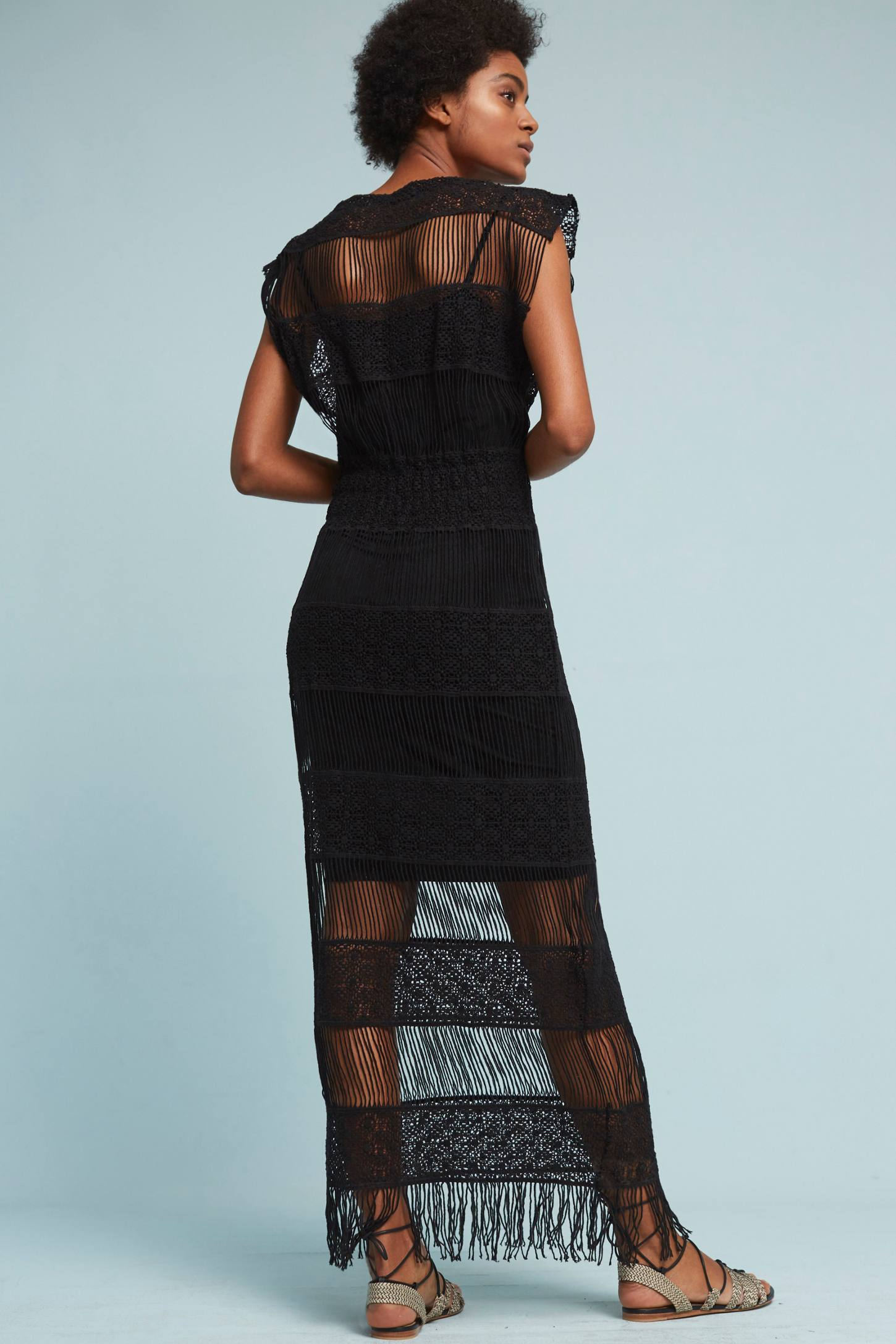 Slide View: 3: Amelia Crocheted Maxi Dress