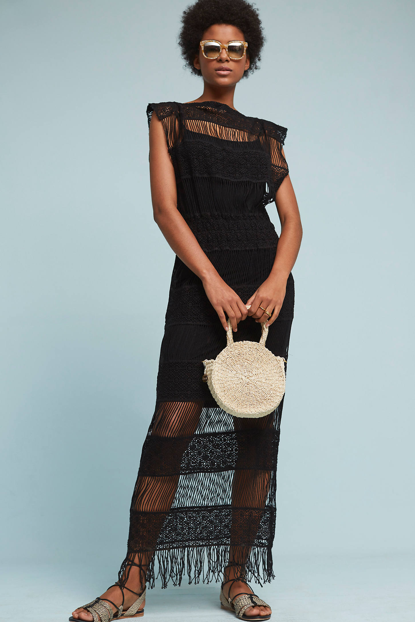 Amelia Crocheted Maxi Dress
