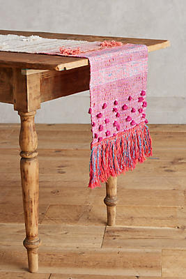 Slide View: 1: Woven Sunset Table Runner