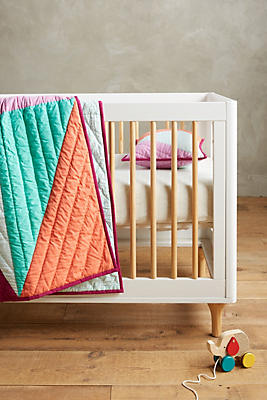 Slide View: 3: Triangles Toddler Quilt & Playmat