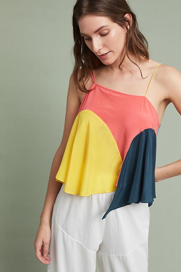 Vista Colourblocked Top, Yellow - Assorted, Size L