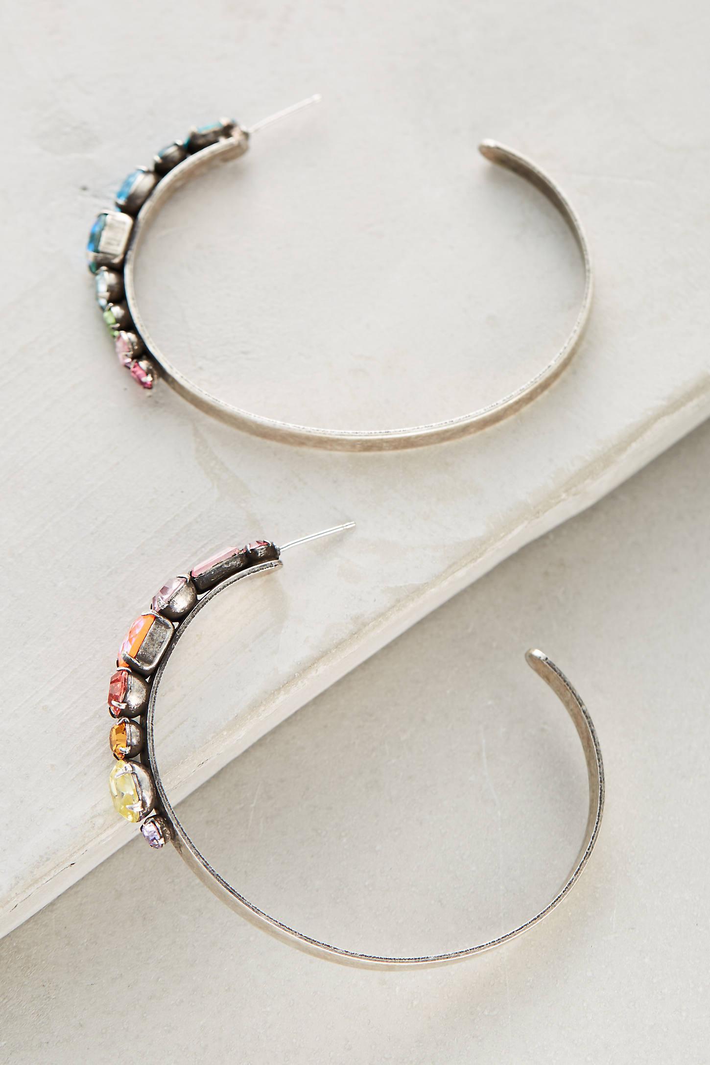 Umija Rainbow Hoop Earrings