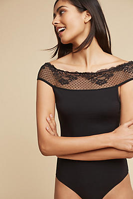 Slide View: 1: Viola Off-The-Shoulder Bodysuit