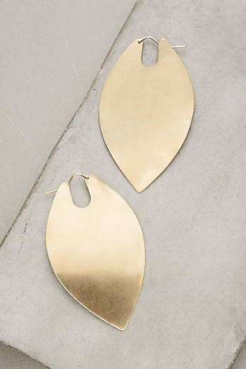 Brass Leaf Duo Hoops