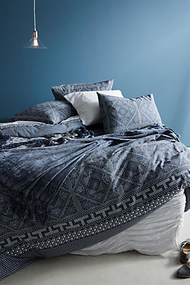 Slide View: 1: Kerchief-Printed Duvet